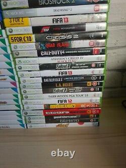 106x Video Games Bundle Scratched Discs Xbox 360 PS2 PS3 Nintendo Wii