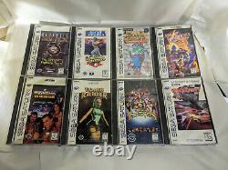 11 Sega Saturn Long Box Vintage Video game lot Sonic ultimate mortal kombat 3