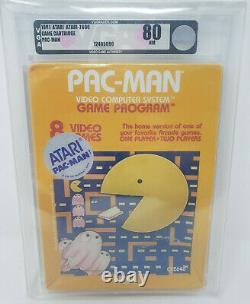 1981 Pac-man Atari 2600 Video Game Cartridge 1st Print Factory Sealed Vga 80nm
