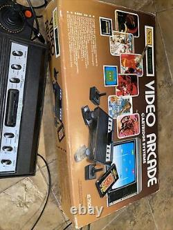 1982 Atari Sears Tele-Games Video Arcade Cartridge System with 5 Games in box