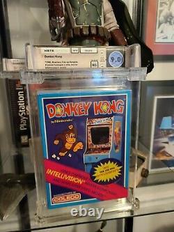 1982 Donkey Kong Coleco Intellivision Sealed Wata 9.0 Graded Video Game Mario