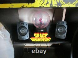 2 Player Arcade Machine Space Invaders Coin Mech 3188 Retro Video Games + Stool