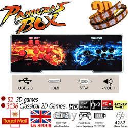 2021 Pandora Box 20S 4263 In 1 HD Video Games Button Double Stick Arcade Console