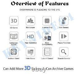 8000 Games 3D Pandora Box Arcade Machine Retro Video Game Console Double Sticks