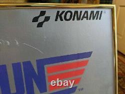 80s Top Gun Konami Arcade Game Nes Advertising Sign Poster Video Store Vtg Frame