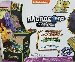 Arcade 1up TMNT Teenage Mutant Ninja Turtles 4ft Video Game WithRiser NIB 2in1