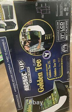 Arcade Cabinet Arcade1UP Retro Home Video Game Golf Riser Light Up Marquee