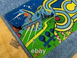 Arcade Header Marquee Scramble Vintage Original Perspex video game sign 1981