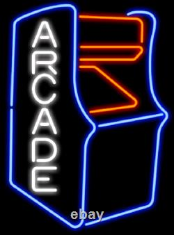 Arcade Video Game Room Machine Neon Sign 20x16 Light Lamp Bar Decor