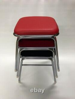 Arcade video game Chair Stool Classic style Red Synthetic Leather Game Center
