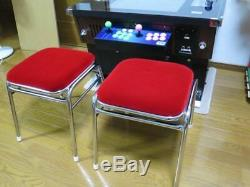 Arcade video game Chair Stool Red Classic style Game Center Isu Moquette