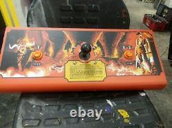 Atari INDIANA JONES & THE TEMPLE OF DOOM Arcade Video Game CONTROL PANEL-Decent