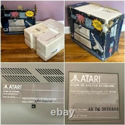Atari XE Video Game System Console, Boxed, Inner Packaging, Games Light Gun RARE