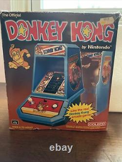 COLECO DONKEY KONG MINI VIDEO GAME IN BOX TABLE TOP ELECTRONIC ARCADE Nintendo