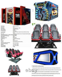 Commercial 5D Virtual Reality Realistic VR 6 Person Ride HD Arcade Video Game