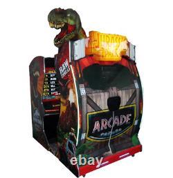Commercial Jurassic Park Dinosaur Arcade Coin Operated Gun Arcade Game SEE VIDEO