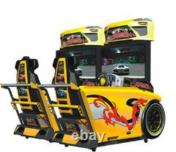 Commercial Single Car Racing Arcade Coin Operated Video Game Ticket Redemption