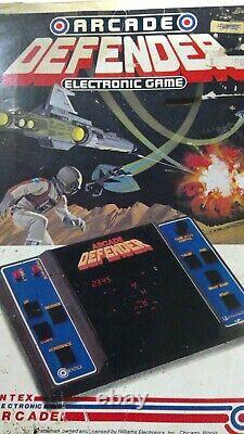 ENTEX DEFENDER in ORIGINAL BOX VIDEO ARCADE GAME ELECTRONIC 1980's WILLIAMS