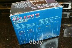 Epoch GALAXY 2 Vintage Electronic Handheld Tabletop Arcade video game TESTED #2