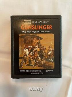 GUNSLINGER for Atari 2600, Sears Tele-Games Very Rare PICTURE LABEL With MANUAL