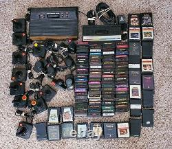 Huge Atari 2600 Lot Bundle Video Game Consoles With Controllers & 108 Games