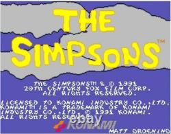 Konami The Simpsons PCB Original Arcade Videogame Working Beschreibung Lesen