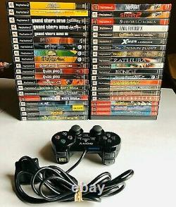 Lot of 40 PS2 Rare Retro Video Games with PS2 Controller (Vintage Games)