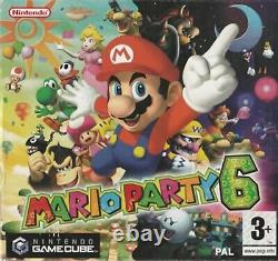 Mario Party 6 (Without Mic) Nintendo Gamecube GBC Video Game UK Release