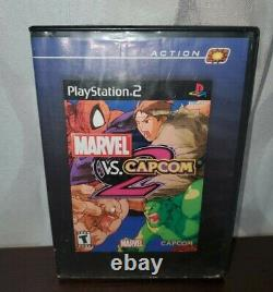Marvel vs Capcom 2 PS2 Disc and Hollywood video case Tested working Playstation