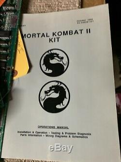 Mortal Kombat 2 Rev 3.1 + Manuals JAMMA ARCADE VIDEO GAME PCB BOARD C10