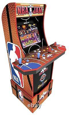 NEW Arcade1UP NBA Jam Video Arcade Game Machine WithLight Up Marquee Riser & WIFI