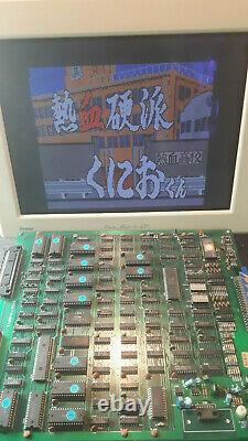 Nekketsu Kouha Kunio-kun Renegade arcade jamma pcb video game original Technos