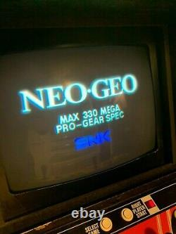 Neo Geo MVS 4 Slot Arcade Video Game Motherboard PCB Tested Works Sound Works