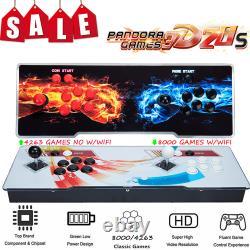 New 4263/8000 Pandora's Box 3D Retro Video Games Double Stick Arcade Console HSL