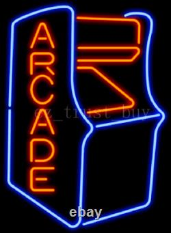 New Video Arcade Game Room Machine 17x14 Neon Sign Lamp Light Beer With Dimmer