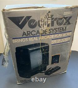 Original 1982 Vectrex Video Arcade Game System + BOX 7 boxed games + overlays