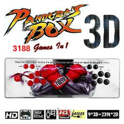 Pandora's Box 12 3188 in 1 Video Gaming 4 Player Arcade Console LCD USB 3D HD UK