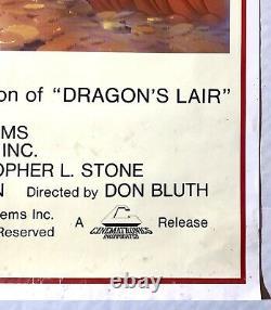 RARE Vintage 1983 Original DRAGONS LAIR Video Game Arcade Promo Poster! 80s