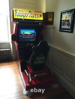 RIDGE RACER 1 + 2 ARCADE MACHINE Deluxe Cabinet Refurbished RARE 1993 Video Game