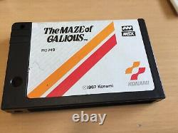 Rare MSX Maze Of Galious Knightmare 2 Gaming Cartridge Video Game Boxed Tested