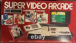 Rare SEARS TELE-GAMES SUPER VIDEO ARCADE SYSTEM INTELLIVISION With Original Box