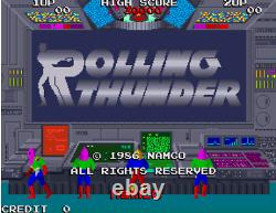Rolling Thunder ATARI PCB Video Game Arcade NOT WORKING AS IS ORIGINAL