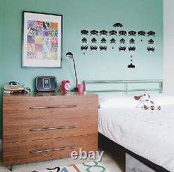 SPACE INVADERS RETRO wall sticker art bedroom, gaming, video, kids, arcade G7
