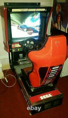 Sega SCUD RACE arcade video sit down driving game. Good working order