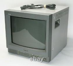 Sony PVM-14N5U Trinitron 14 CRT Color Video Monitor Retro Gaming Arcade TV