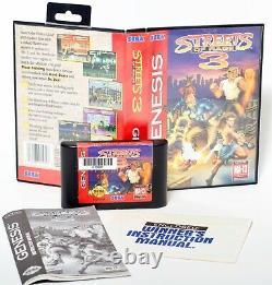 Streets of Rage 3 Sega Genesis 1994 Complete Original Vintage Video Game