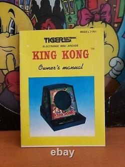 TIGER KING KONG Electronic Tabletop Arcade video game RARE, new decals