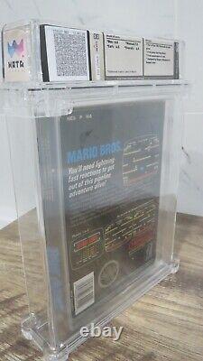 The Original Mario Brothers Nintendo NES CIB Video Game! Wata Graded! Super Bros