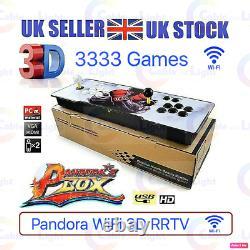 UK SELLER 3333 Games Man Cave WiFi Retro 3D HD Video Pandora Arcade Box Console