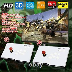 UK SELLER 8000 Games Pandora's Box WiFi Retro 3D HD Video Arcade Console 2 Panel